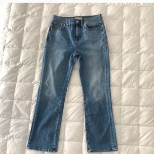 Madewell kick crop denim